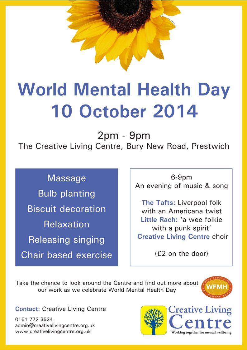 World Mental Health Day event: 10 October 2014 | Tim Pickstone