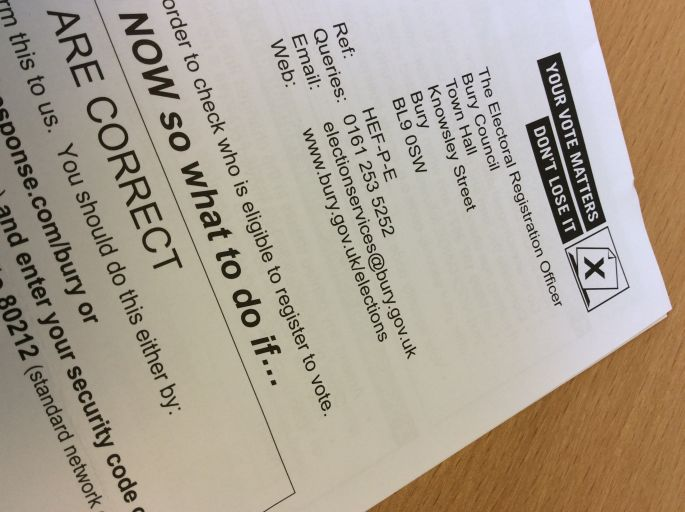 What Is A Registered Letter.Electoral Register Look Out For A Letter Tim Pickstone